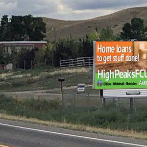 Roadside High Peaks FCU billboard